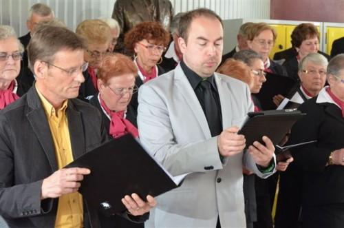 Eratomanes 2014 Les solistes, Eric Fayard, ténor, à gauche et Nicolas Cochard, basse.JPG