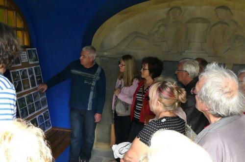 David Murzyn présente les étapes de la restauration de la chapelle allemande P1010568.jpg
